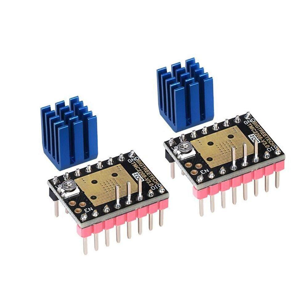 Kingprint TMC2208 V3.0 UART Mode driver motore passo-passo con dissipatore di calore per SKR V1.3 MKS GEN L Ramps 1.4//1.5//1.6 scheda di controllo stampante 3D confezione da 2pezzi