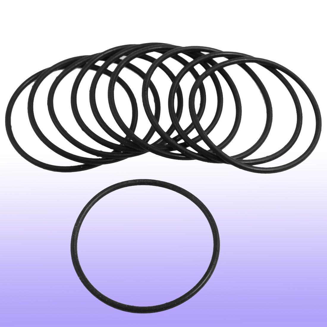 O-Ring Anello Di Tenuta In Gomma Spessore 2mm Diametro Esterno 44mm 10 Pezzi
