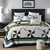 Oversized King Duvet Covers 118 X 98 3-Piece Pure Cotton Quilt Set, Patchwork Bedspread Set, Finely Stitched, Coverlet Bed-cover, King Size