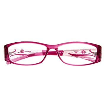 94a93efed077 Amazon.com  LianSan 3 Pack Stylish Ladies Readers Cute Reading Glasses for Women  Pink Purple Red +1.00 Magnification  Health   Personal Care