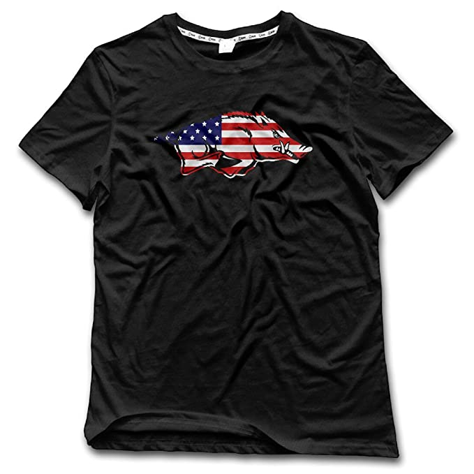 Amazon.com: Mens Arkansas Razorbacks Graphic T Shirts Cool ...