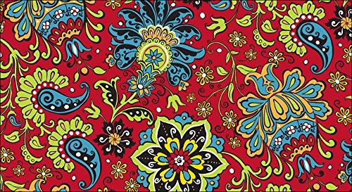 Toland Home Garden Gypsy Garden 20 x 38 Inch Decorative Paisley Flower Anti Fatigue Comfort ()