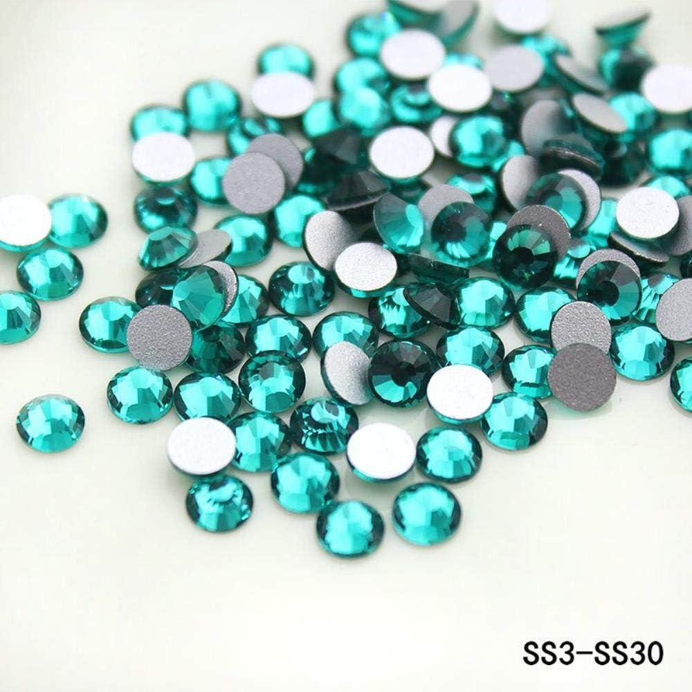 PENVEAT Green Zircon SS6 SS20 SS16 3D Glass Rhinestone Flatback DIY Nail Deco Beads No hotfix Use Glue 1440pcs Wedding Deco, SS20-1440pcs