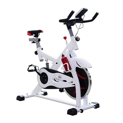 2 opinioni per Homcom – Cyclette per Spinning Professionale con Schermo LCD 105 × 49 × 119cm