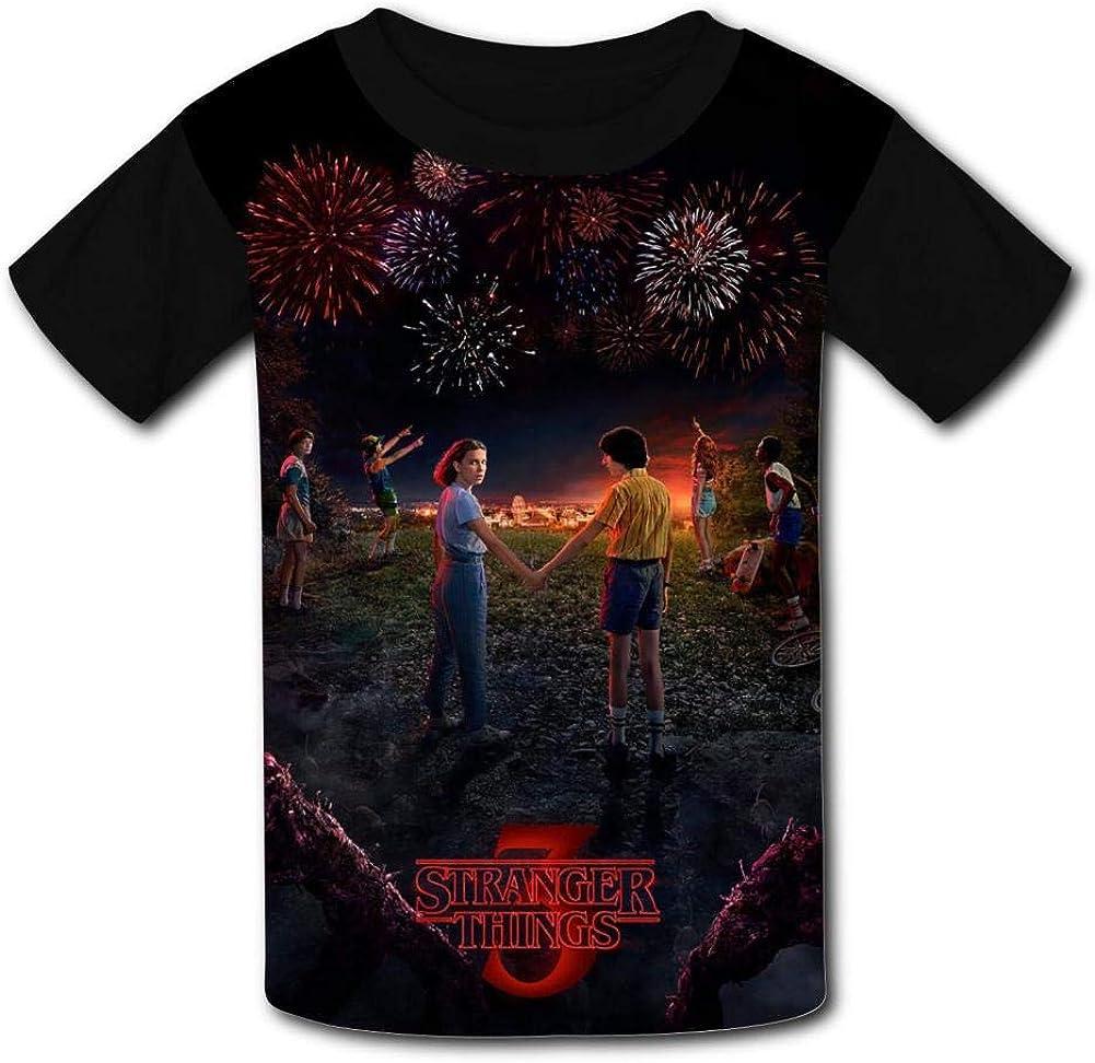 Netio Stranger Things Season 3 Basic Daily Wear Cute Graphic Raglan T Shirts for Boys and Girls