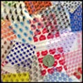 "2020 Apple Mini Ziplock 100 Baggies 25 Random Designs Prints Mix 100 Bags 2"" X 2"" by Original Apple Brand Mini Ziplock Bags"