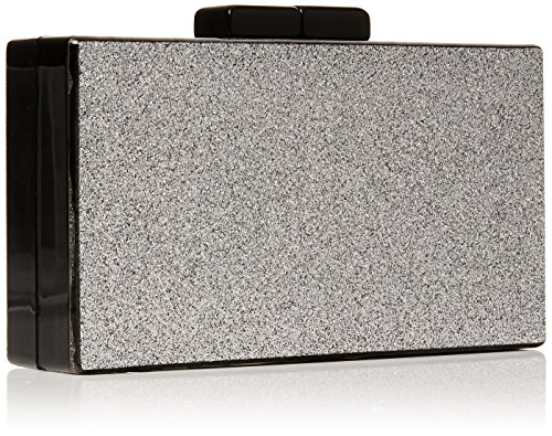 Silver Glitter Womens Quiz Silver Clutch Bag Clutch Box aq4aYxw5