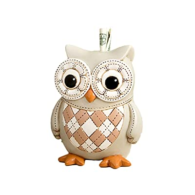 Mozlly Beige Polyresin Wise Owl Bank - 5.25 x 4.25 x 3.5 inch - Nursery Décor - Item #105031: Toys & Games