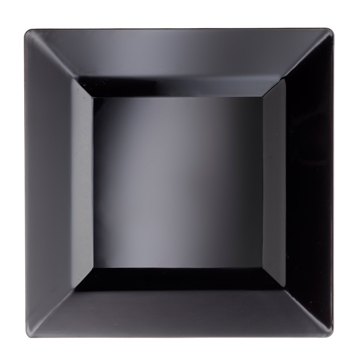 Party Essentials Classic Square Plates, 9.5'', Black (Pack of 120)