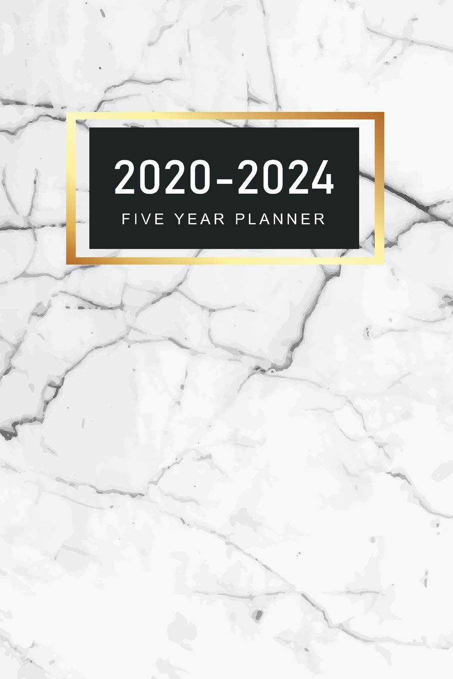 2020-2024 Five Year Planner: Elegant Marble Cover | 2020 ...
