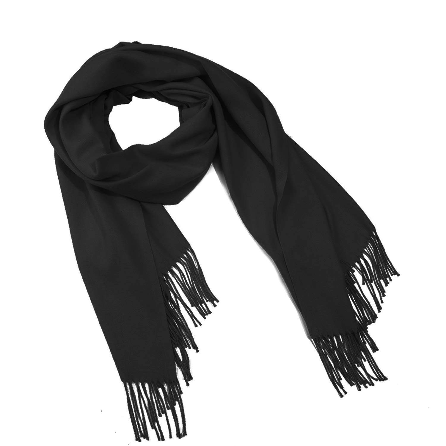 6aabdc4b35496 Pashmina Scarf for Women - 2019 Fashion Cashmere Wrap Shawl Solid  Colors(Black): Amazon.ca: Clothing & Accessories