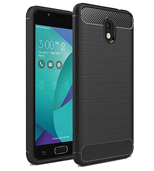 Zenfone V Live Case, Skmy Ultra [Slim Thin] Carbon Fiber Scratch Resistant  Shock Absorption Soft TPU and Anti-Scratch and Non-Slip Case Cover for ASUS