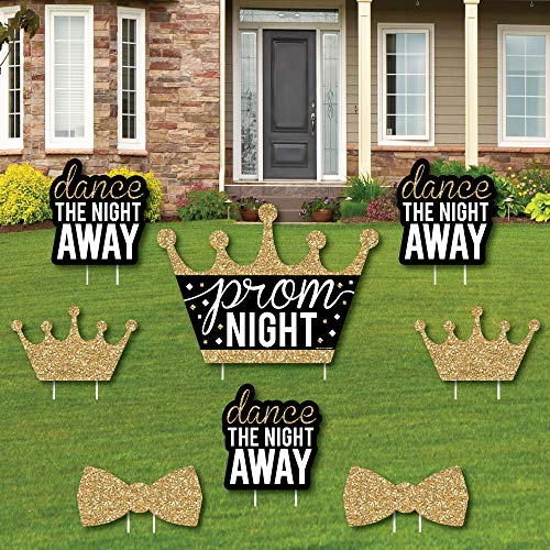 Prom - Yard Sign and Outdoor Lawn Decorations - Prom Night Party Yard Signs - Set of 8 -