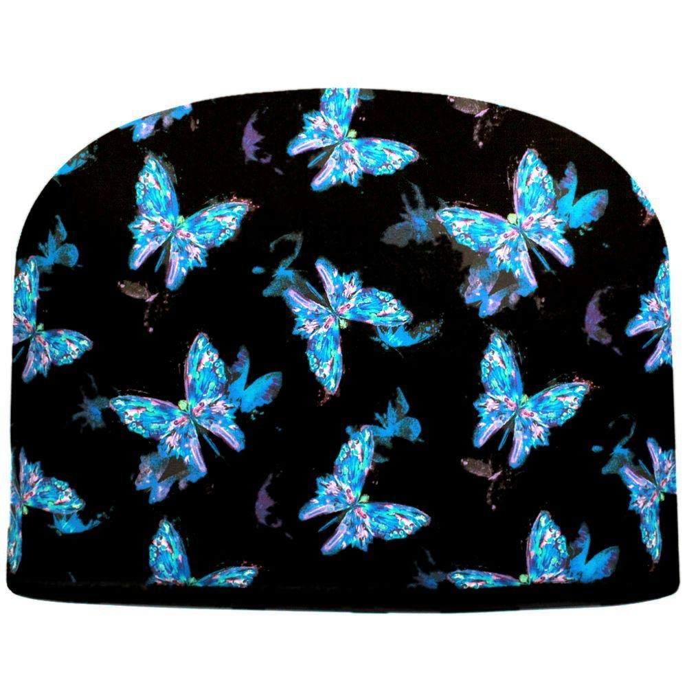 Blue Moon Butterflies at Night Tea Cozy Double Insulated Teapot Tea Cozy