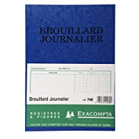 Exacompta 79E Brouillard Journalier piqué 27 x 19,5 cm 40 pages format Vertical/110 g/m²