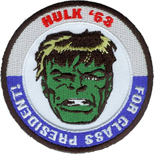 (Marvel Comics Classic Hulk (Hulk '63 for Class President) Embroidered Color Patch (Can Be Ironed Or Sewn On) (with Gift)