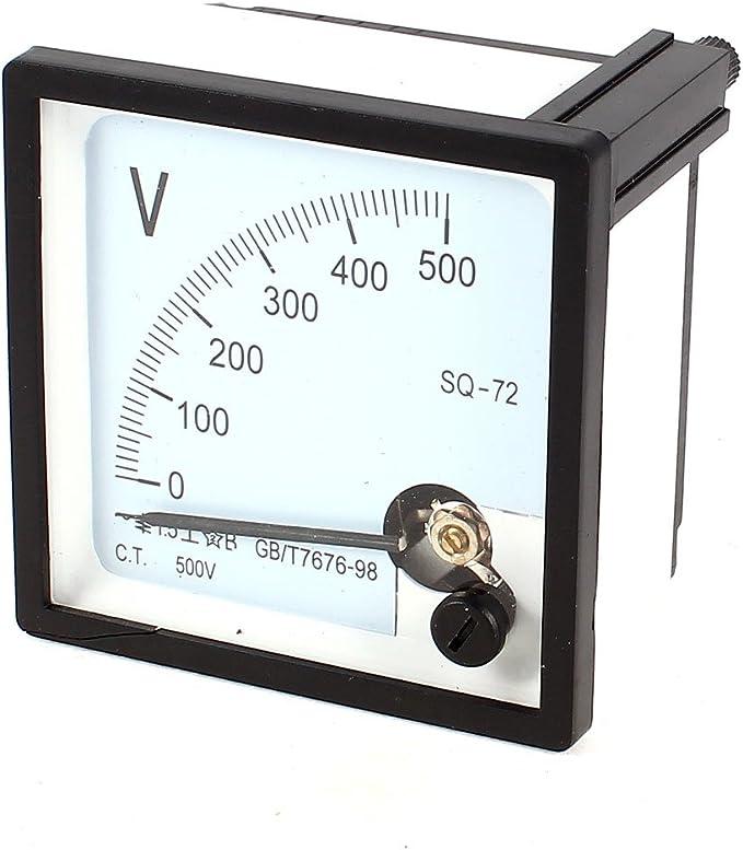 sourcingmap Rettangolo AC 0-300 V manometro analogico tensione misuratore pannello voltometro DH670