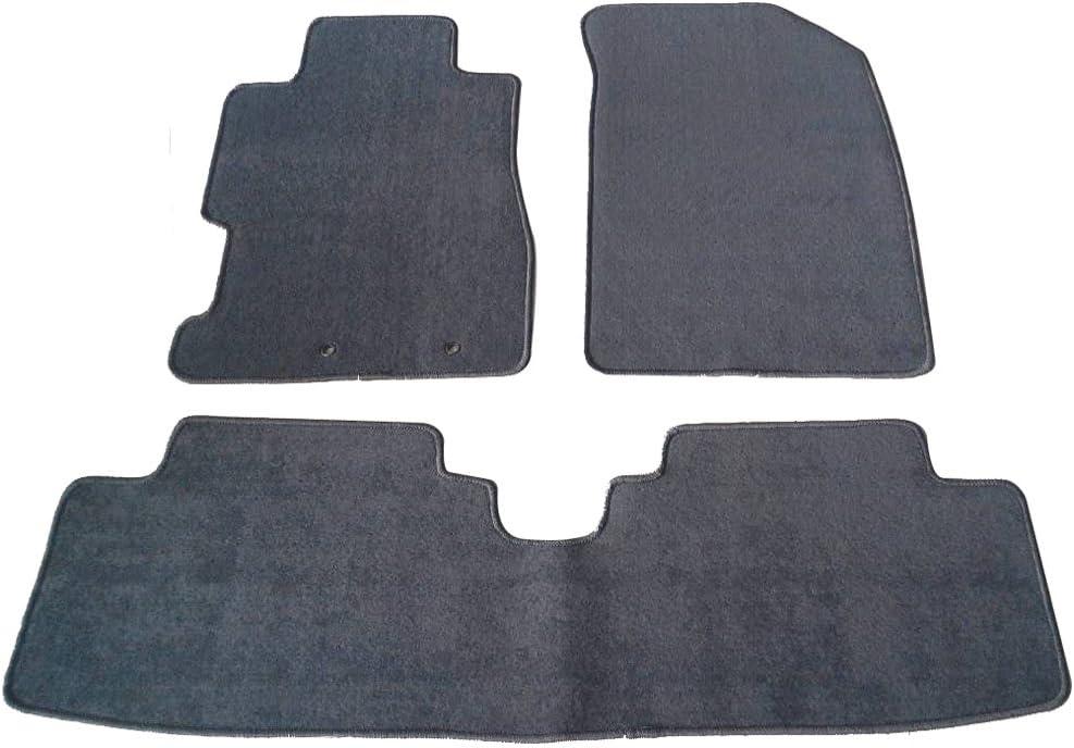 Amazon Com Floor Mat Compatible With 2001 2005 Honda Civic 2002 2005 Honda Civic Si Front Rear Gray 3pc Nylon Car Floor Carpets Carpet Liner By Ikon Motorsports 2002 2003 2004 Automotive