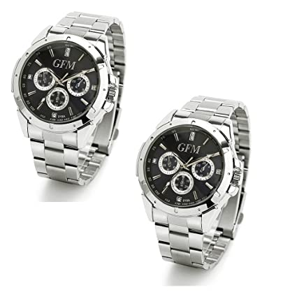 b90800043983 2 Pack - Best Gifts for Men - Designer Sports Watch in Stainless Steel -  Perfect