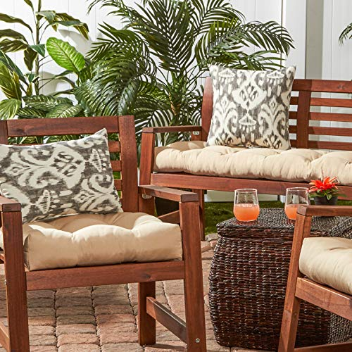 "Greendale Home Fashions 17"" Outdoor Accent Pillows in Coastal Ikat (Set of 2), Graphite"