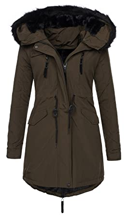 Golden Brands Selection Exclusive Damen Winter Jacke Warmer Parka Mantel  Winterjacke gefüttert B288  Amazon.de  Bekleidung 4071be483e