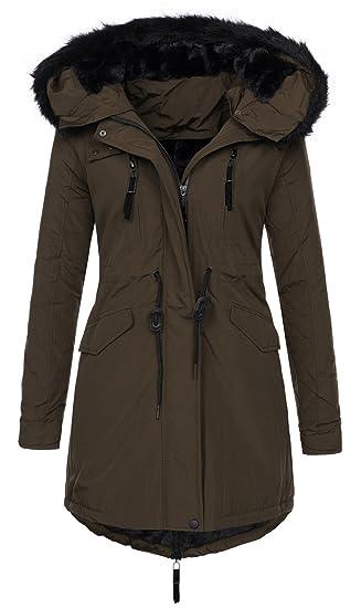 b193d8ac9e9444 Golden Brands Selection Exclusive Damen Winter Jacke Warmer Parka Mantel  Winterjacke gefüttert B288 [B288 -