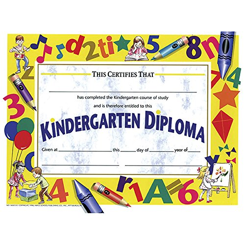 Kindergarten Graduation Diploma -