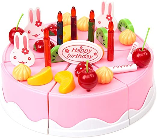 Superb Amazon Com Hithopking 54 Pcs Kids Birthday Party Fruit Cake Personalised Birthday Cards Veneteletsinfo