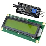 1602 16X2 Character LCD Module Yellow Display + IIC/I2C/TWI/SPI Serial Interface for Arduino UNO R3 MEGA2560