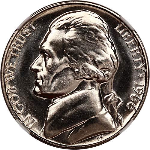1966 P Jefferson Nickels (Proof) Special Mint Set Nickel MS68 NGC (Ngc Nickel Mint Jefferson)