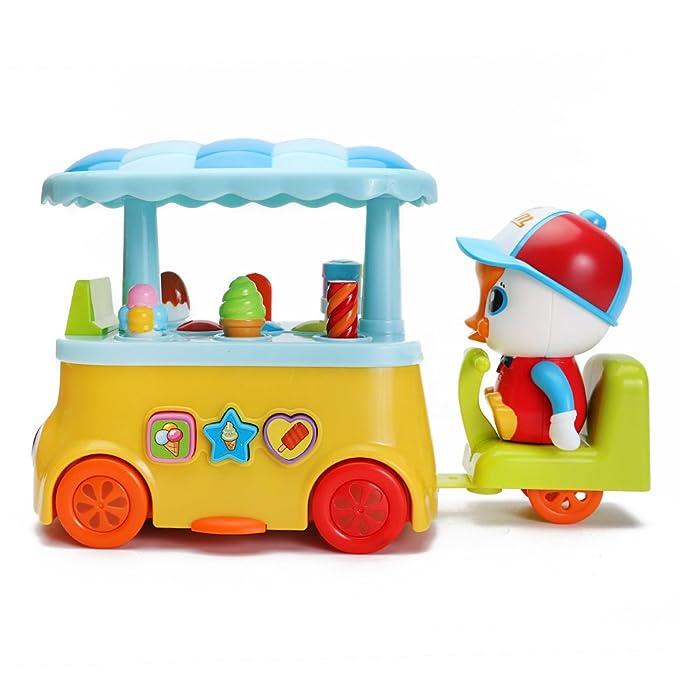 Amazon.es: Ice Cream Van juguete Jumpy Juego de helado camión carro de dulces con sonido y luz para niños por happytime: Juguetes y juegos