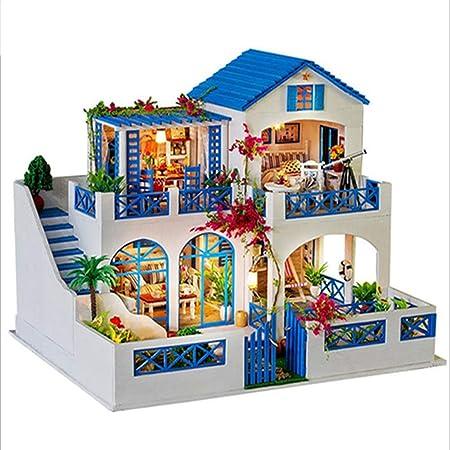 QIQI Rompecabezas Tridimensional, Muñeco De Bricolaje Jardín De Meteoros Montado A Mano Casa Modelo Villa Juguete para Enviar Regalos Creativos A Niños Y Niñas: Amazon.es: Hogar