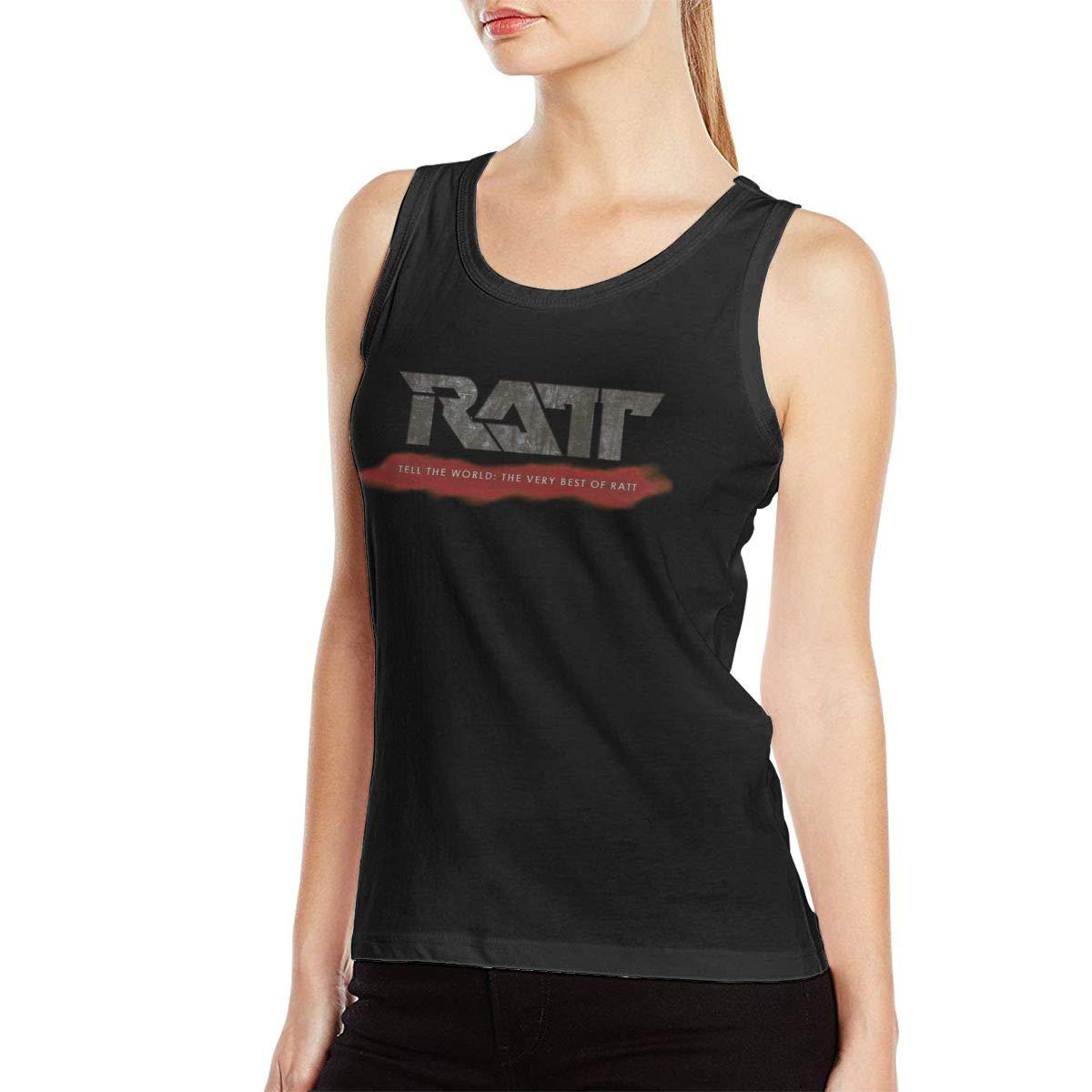 Emmanuelharrod Ratt Band Tank Tops Summer Sleeveless T Shirts Black