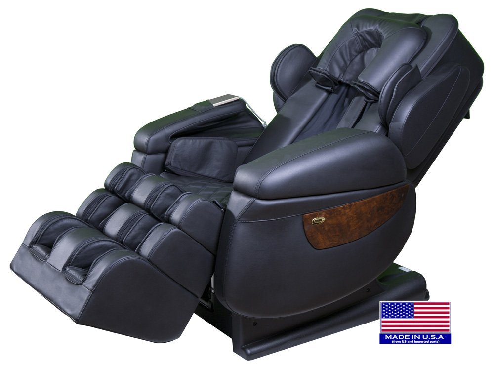 Luraco i7 iRobotics 7th Generation 3D Zero Gravity Heating Massage Chair Black