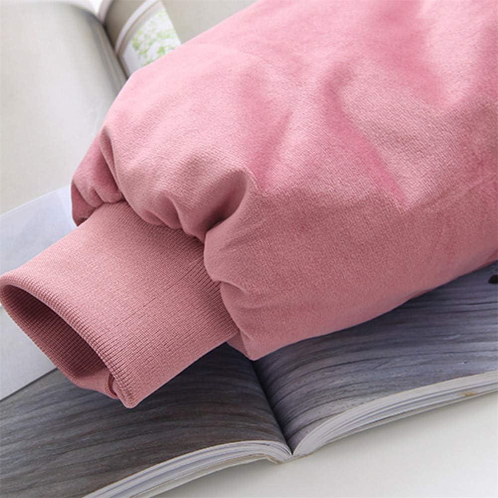 Romon Femmes Manteau d'hiver Polyester Casual Grande Taille Imprimer Épais Collier Cheveux Longs Grande Fourrure d'hiver vers Le Bas Caraco Long Down Darkblue
