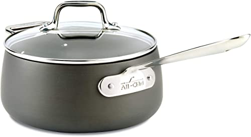 All-Clad E7852464 HA1 Hard-Anodized Nonstick Dishwasher Safe PFOA-Free Saucepan