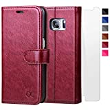 #2: OCASE Samsung Galaxy S7 Case [Screen Protector Included] Leather Flip Wallet Case For Samsung Galaxy S7 - Burgundy