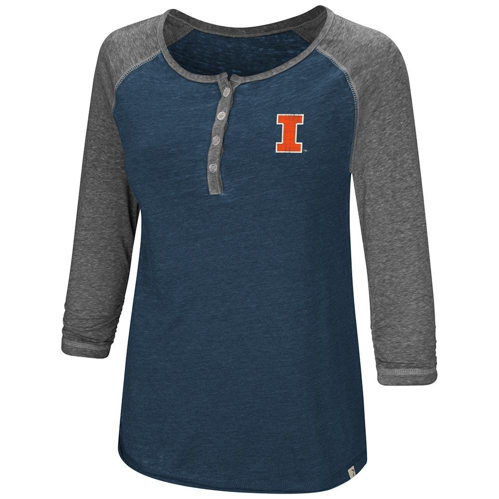 Colosseum Womens Illinois Fighting Illini Henley 3 /4長袖Teeシャツ B07DWLLLC5  Medium