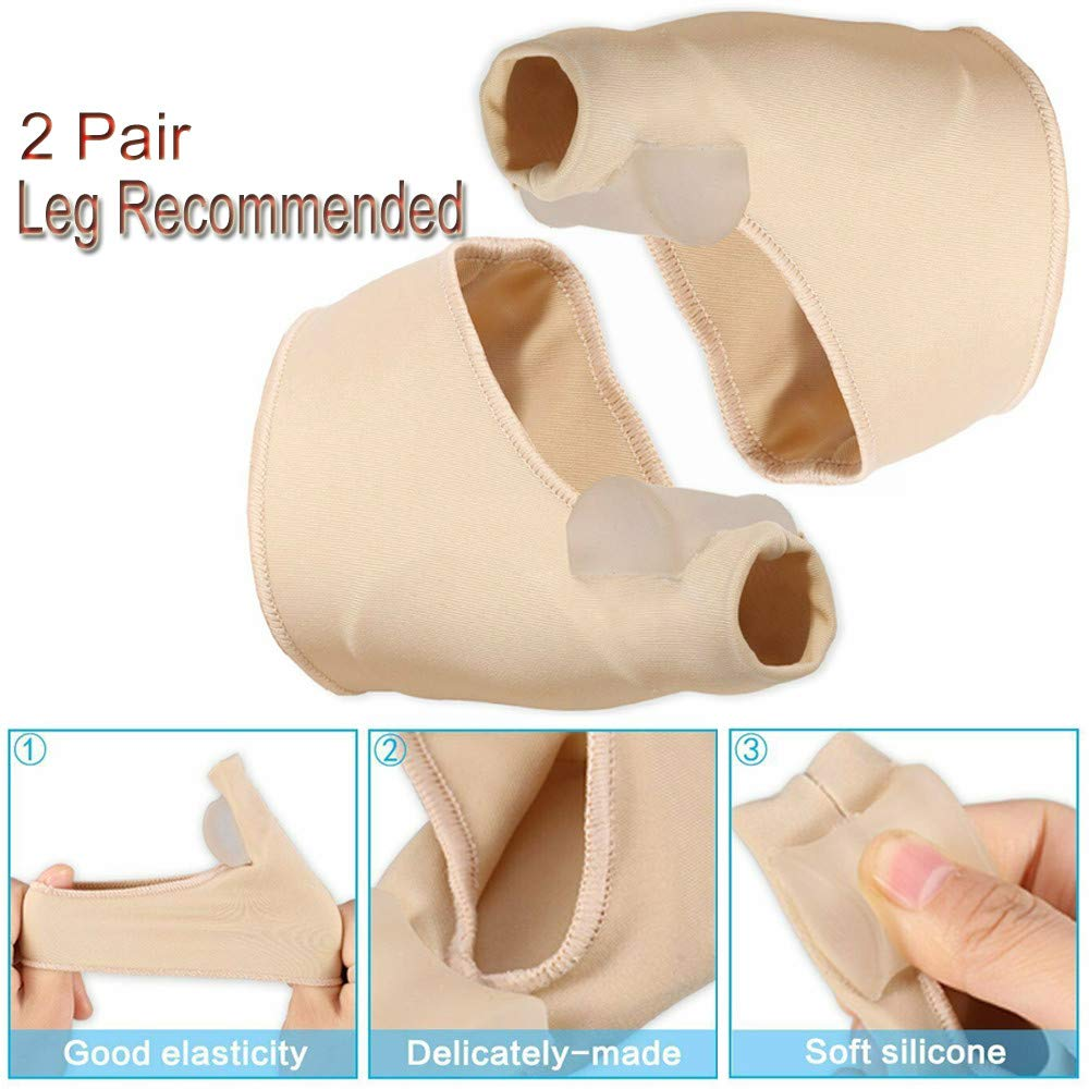 Clothful  2 Pair Healthy Leg Recommended Thumb Valgus Toe Separator Relief Corrector Pad by Clothful (Image #5)