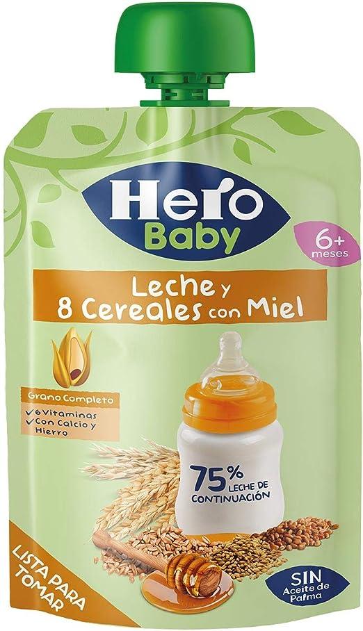 Hero Baby Bolsita de Papilla 8 Cereales con Miel para Bebés a ...
