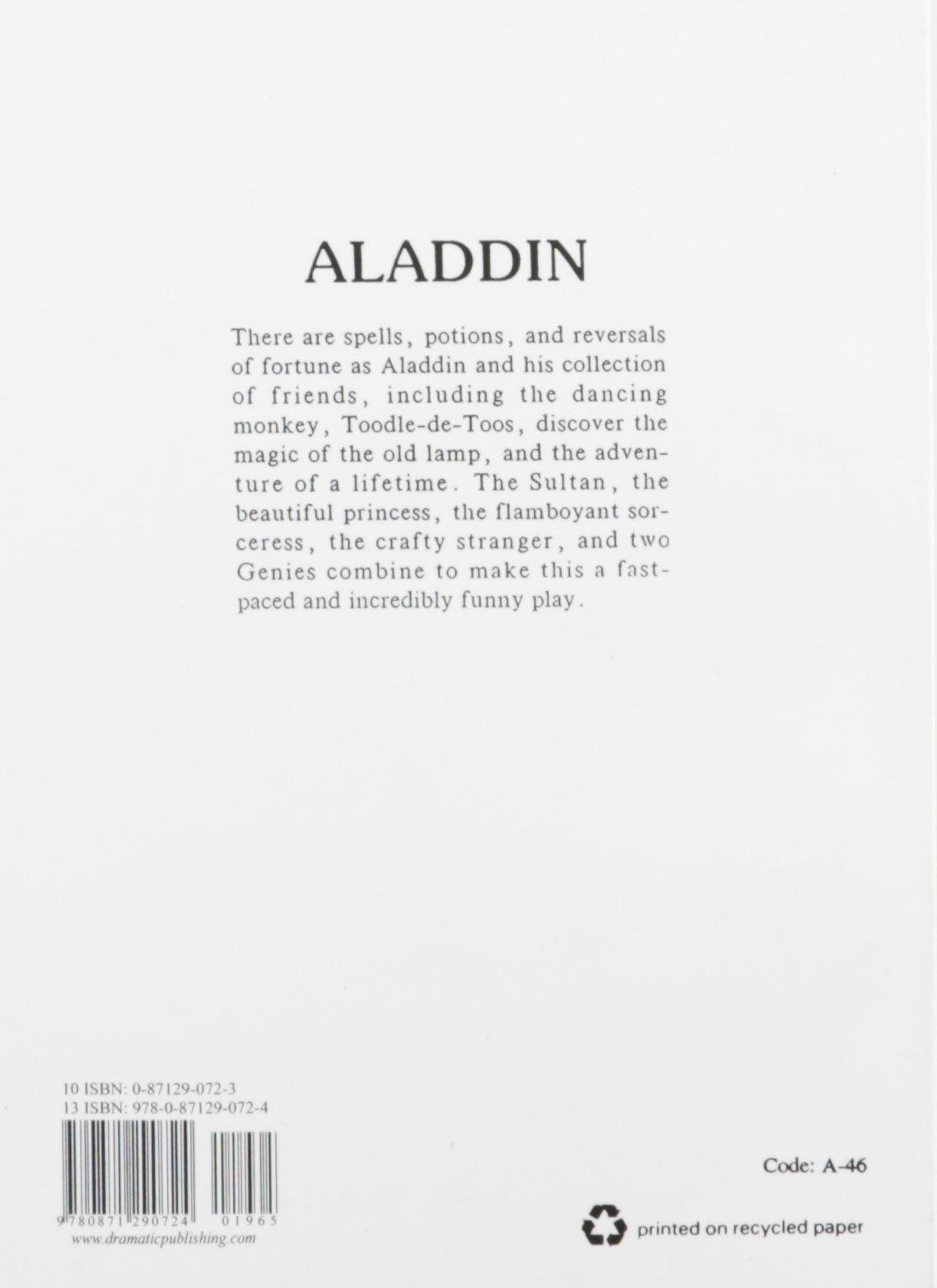 aladdin childrens theatre playscript william glennon william glennon 9780871290724 amazoncom books