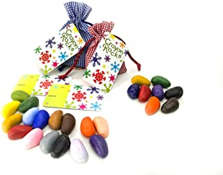 product image for 16 and 8 Crayon Rocks in Blue and Red Gingham Bags