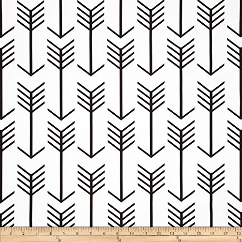 (Premier Prints 0408851 Arrow White/Black Fabric by the Yard)