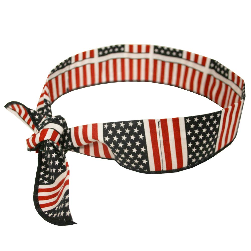 Cordova ColdSnap Cooling Bandana with Water Activated Polymers - American Flag Pattern