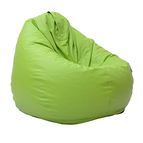 Relax Green XXL Size leather Bean Bags Cover without filling
