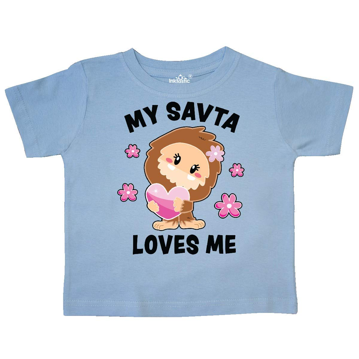 inktastic My SAVTA Loves Me with Bigfoot Toddler T-Shirt