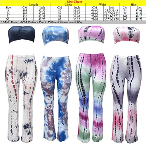 Zhhlinyuan High Quality Dyed Bandage Boot Cut Pants with Wrapped Chest Suit Personalized Ropa para mujer Laides White&Black