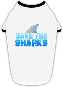 TooLoud Save The Sharks - Fin Color Stylish Cotton Dog Shirt