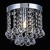 Floodoor Mini Crystal Chandelier Lighting, 1 Light Rain Drop Flush Mount Ceiling Lights, Modern Pendant Lamp for Hallway, Dining Room, Bar, Bedroom, W5.9 X H7.08 Review