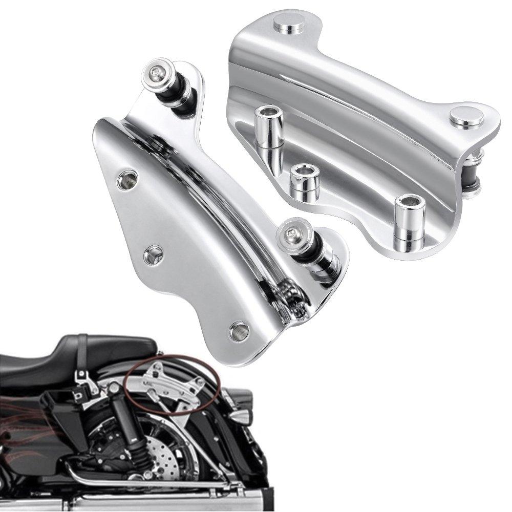 4 Point Chrome Docking Hardware Kit For Harley Davidson Electra Street Glide Passenger Backrest 2009-2013 live4fun